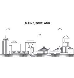maine portland architecture line skyline vector image vector image