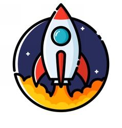 Rocket launch vector image vector image