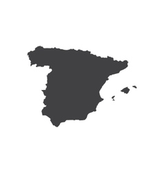 Spain map silhouette vector image vector image