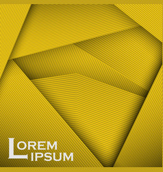 Yellow abstract line card background use for vector