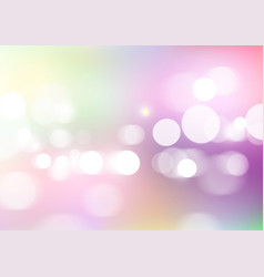 Abstract bokeh light with soft colors background vector