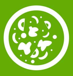 Asian hot dish icon green vector