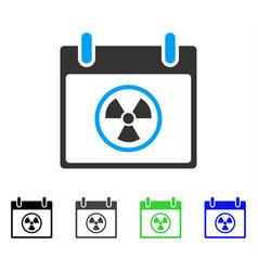 Atomic calendar day flat icon vector