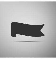 Banner ribbon flat icon on grey background vector