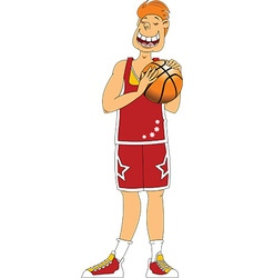 Basketball player cartoon vector