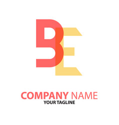 Be initial logo concept can used vector