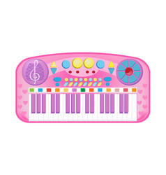 Beautiful musical synthesizer with lot of vector