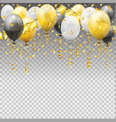 birthday party with balloons vector image