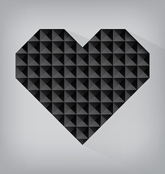 Black retro heart triangle abstract love valentine vector