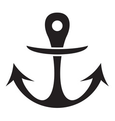 boat archor icon simple style vector image