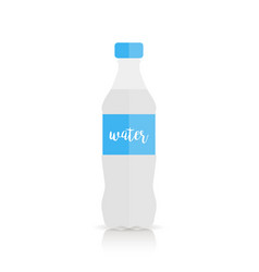bottle of water in flat style isolated on white vector image