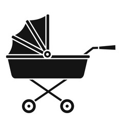 Buggy icon simple style vector