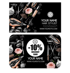 business discount card for hairdresser vector image