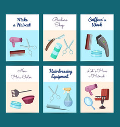 card or flyer templates set vector image
