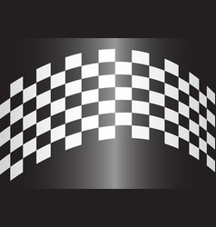 checkered curve gray gradient design race sport vector image