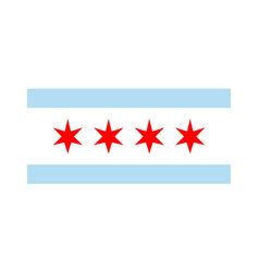 Chicago flag icon vector