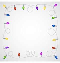 Christmas garland with colorful light bulbs vector image