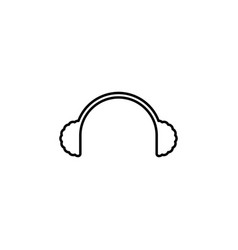 christmas headphones outline icon element of new vector image