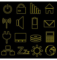 computer and laptop indication outline icons eps10 vector image