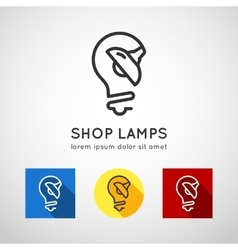 Concept logo lamps lamp shop vector
