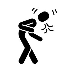 Coughing sneezing glyph icon vector