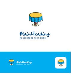 creative round table logo design flat color logo vector image
