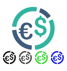 Currency diagram flat icon vector