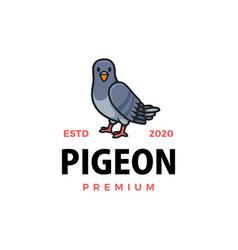 cute pigeon cartoon logo icon vector image