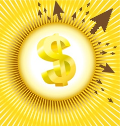 dollar design vector image