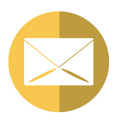 Email message mail button shadow vector