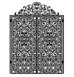 Forged iron gate vector