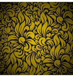 Gold Seamless Floral Background vector image