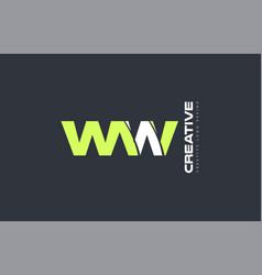 Green letter ww w w combination logo icon company vector