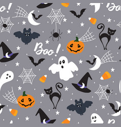 Halloween pattern draft vector