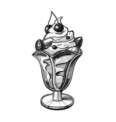 Ice cream hand drawn vector