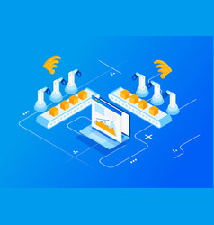 Industry 40 internet of things vector