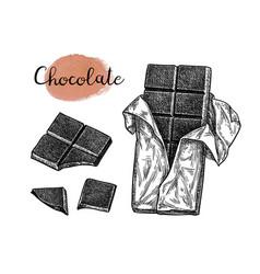 ink sketch of chocolate bar vector image