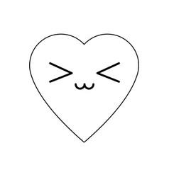 kawaii heart health care cardiology vector image