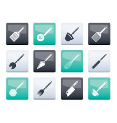 Kitchen accessories and equipment vector