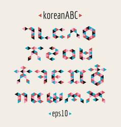 korean alphabet set vector image