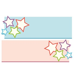Lable design with stars vector image