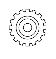 line industry gear to process engineering vector image