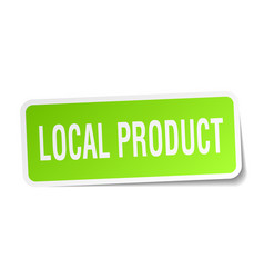 Local product square sticker on white vector