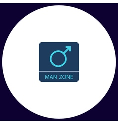 man gender computer symbol vector image
