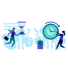 Manage your time concept effective planning vector