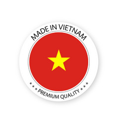 Modern made in vietnam label vector