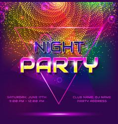 Night party invitation vector