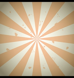 orange vintage grunge ray background vector image