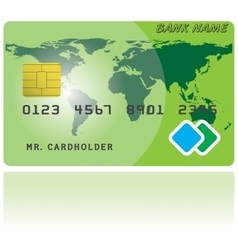 Pattern of credit card vector image