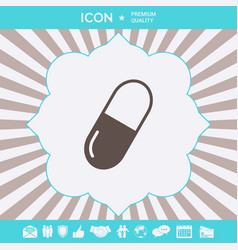 pill icon symbol graphic elements for your design vector image